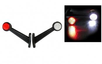 LED Όγκου Κερατάκια 24V IP66 Κόκκινό / Λευκό Μεσαία