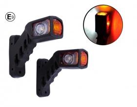 Τριπλά πλευρικά φώτα θέσης κόκκινα/λευκά/κίτρινα LED 12V (τ. κέρατα), ζεύγος (2 τεμάχια)