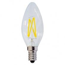 Λαμπτήρας Led Filament Κερί E14 4 Watt Θερμό Λευκό Dimmable