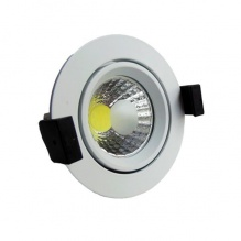 Led Cob Downlight 8 W Epistar Chip Θερμό Λευκό