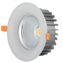 Led Cob Downlight 40 Watt Bridgelux Chip Λευκό Ημέρας