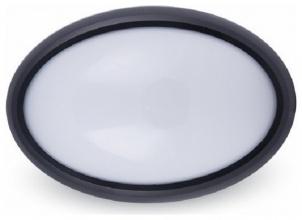 LED Φωτιστικό 12W 4000Κ IP54 Μαύρο Οβάλ
