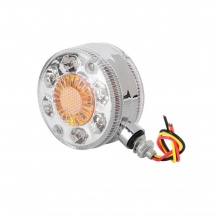 LED Φωτιστικό Πλευρικής Σήμανσης 24V με Στεφάνι Χρωμίου