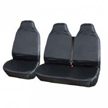 Σετ Αδιάβροχων Προστατευτικών Καθισμάτων 2+1 Τεμάχια Μαύρο