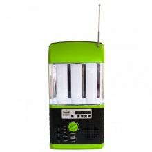 Πολλαπλών Λειτουργιών Ηλιακός Φακός/Ράδιο 3W Πράσινο