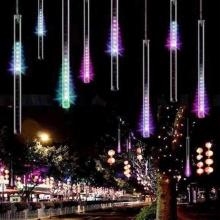 LED Λαμπάκια Σταλαχτίτες Χιονιού RGB 8 τμχ. 50cm 2.8М+5М IP44 220V