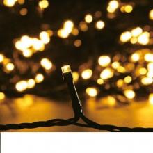 LED Λαμπάκια 3.6W 10М.100LED Θερμό Λευκό IP44 230V Πράσινο Καλώδιο
