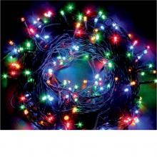 LED Λαμπάκια 3.6W 10М.100LED RGB IP44 230V Πράσινο Καλώδιο