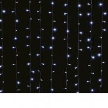 LED Λαμπάκια Κουρτίνα 3.6W 3 X 1.50М.300LED Ψυχρό Λευκό IP44 230V με Κοντρόλερ