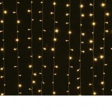 LED Λαμπάκια Κουρτίνα 3.6W 3 X 1.50М.300LED Θερμό Λευκό IP44 230V με Κοντρόλερ