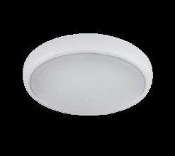 LED Φωτιστικό 12W 4000Κ IP54 Λευκό Στρογγυλό