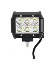 Προβολέας EPISTAR LED 18 Watt Υψηλής Ισχύος 10-30 Volt Τετράγωνος