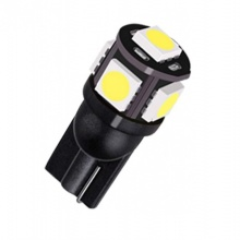 LED T10 5 SMD 5050 12V Ψυχρό Λευκό 1 Τεμάχιο