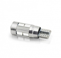 T10 LED Can Bus 10 SMD 5630 12V Μπλέ 1 Τεμάχιο