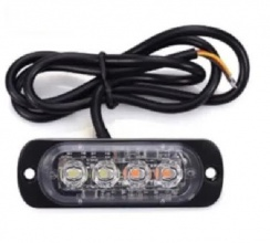 LED Φώτα Οδικής Βοήθειας 12V / 24V Πορτοκαλί Εξωτερικά 4 LED