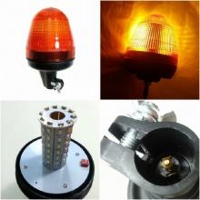 LED Φάρος Πορτοκαλί 12V / 24V Γρήγορη Σύνδεση
