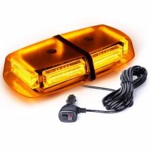 LED Φάρος Πορτοκαλί 12V / 24V Με Μαγνήτη 48 LED μέ Πορτοκαλί Γυαλί