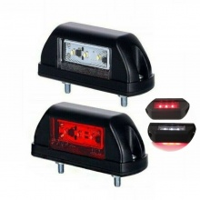 LED Φώτα Πινακίδας 6 SMD 12V / 24V Κόκκινο / Λευκό E-Mark 1 Τεμάχιο