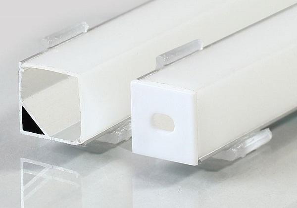 Γωνιακό Προφίλ Αλουμινίου Επιφανειακής Στήριξης Τετράγωνο