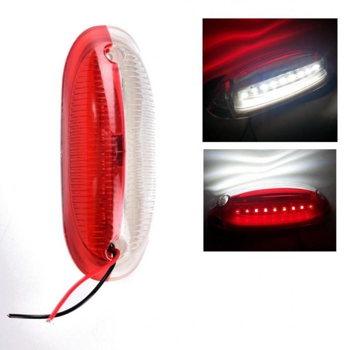 LED Όγκου Κατακόρυφα πλευρικά θέσης 12V/24V  IP66 Κόκκινό / Λευκό
