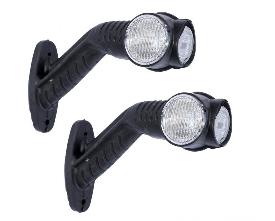 Τριπλά πλευρικά φώτα θέσης κόκκινα/λευκά/κίτρινα LED 12V/24V (τ. κέρατα), ζεύγος (2 τεμάχια)
