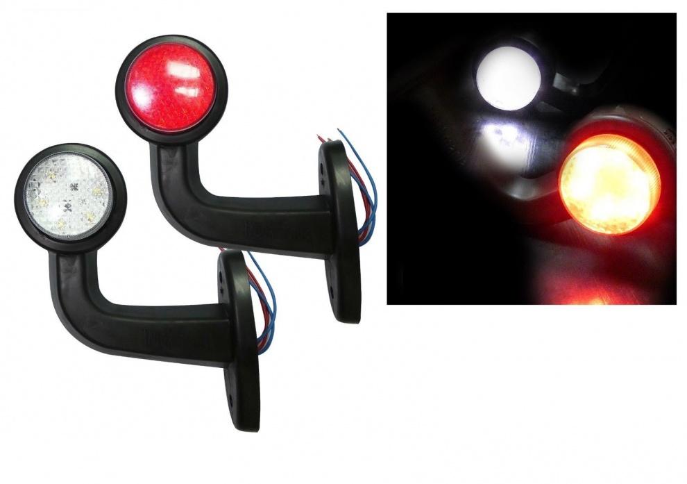 LED Όγκου Κερατάκια 12V IP66 Κόκκινό / Λευκό Μικρά
