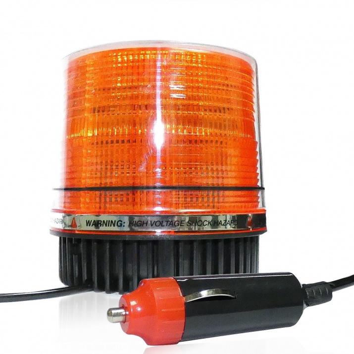 LED Φάρος Πορτοκαλί 12V / 24V Με Μαγνήτη 9 Ακτίνες