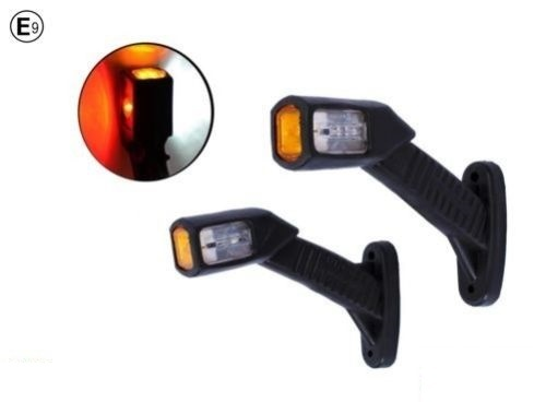 Σετ LED Όγκου Μεσαία Τριπλά Κερατάκια 12V/24V IP66 Κόκκινό / Λευκό / Κίτρινο