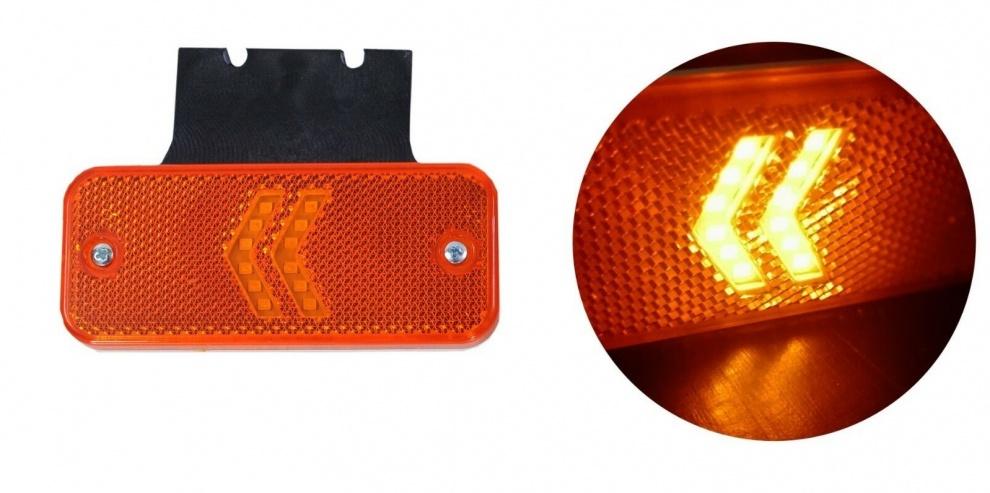 LED Φωτιστικό Πλευρικής Σήμανσης με Βάση και Βέλη 12V / 24V