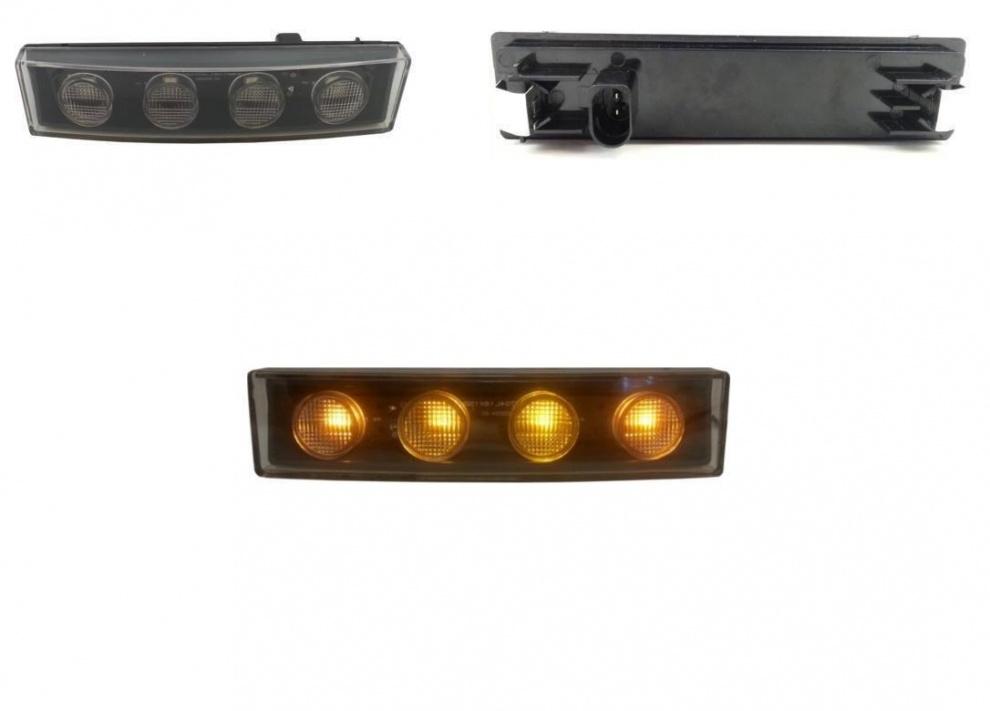 Φώτα οροφής κίτρινα με 4*LED 12V/24V για Scania