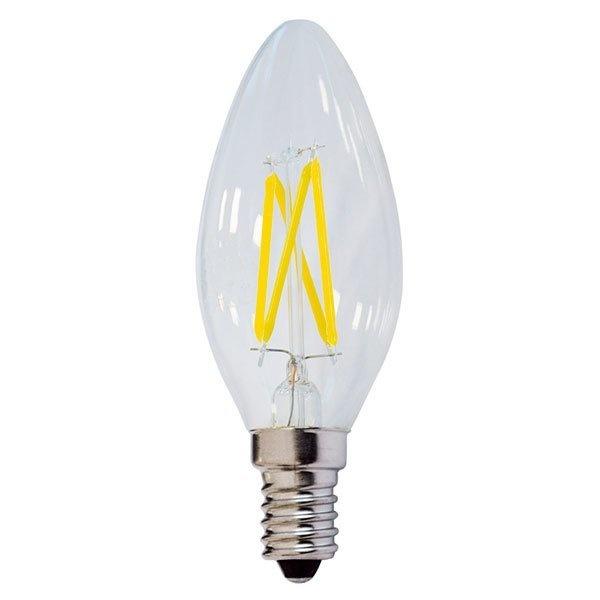 Λαμπτήρας Led Filament Κερί E14 4 Watt Θερμό Λευκό