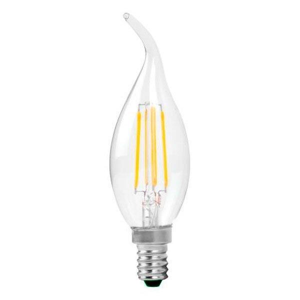 Λαμπτήρας Led Filament Κερί E14 4 Watt Θερμό Λευκό Φλόγα