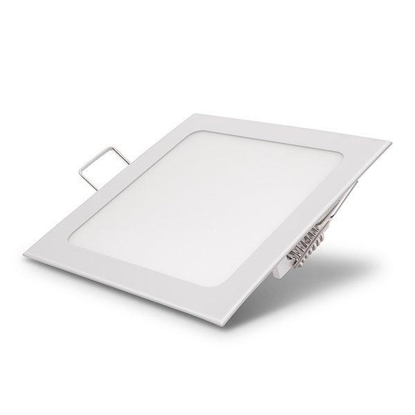 Φωτιστικό Τετράγωνο Πάνελ Χωνευτό 12 Watt 230 Volt Θερμό Λευκό