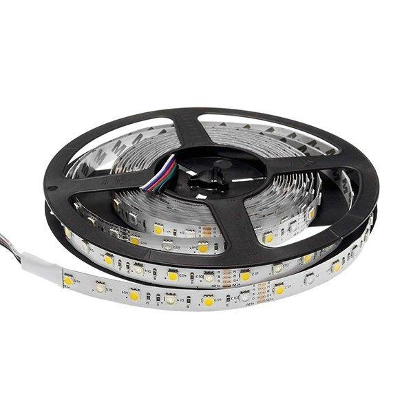 Ταινία LED 14.4 Watt 60 smd 5050 Led RGB Θερμό Λευκό 5 Μέτρα