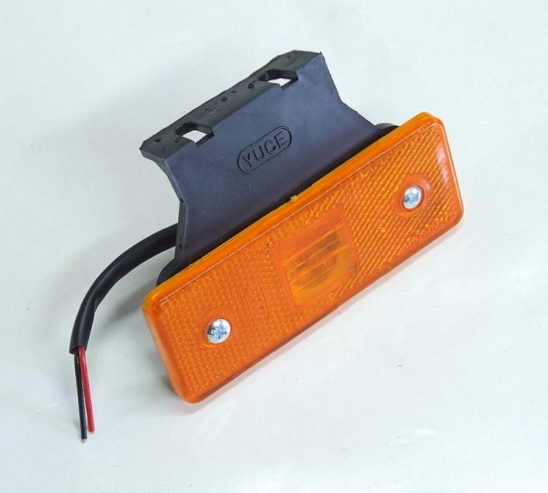 LED Φωτιστικό Πλευρικής Σήμανσης με Βάση 24V Πορτοκαλί