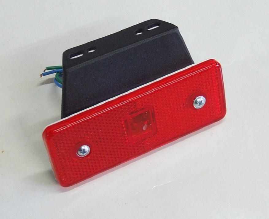 LED Φωτιστικό Πλευρικής Σήμανσης με Βάση 24V Κόκκινο
