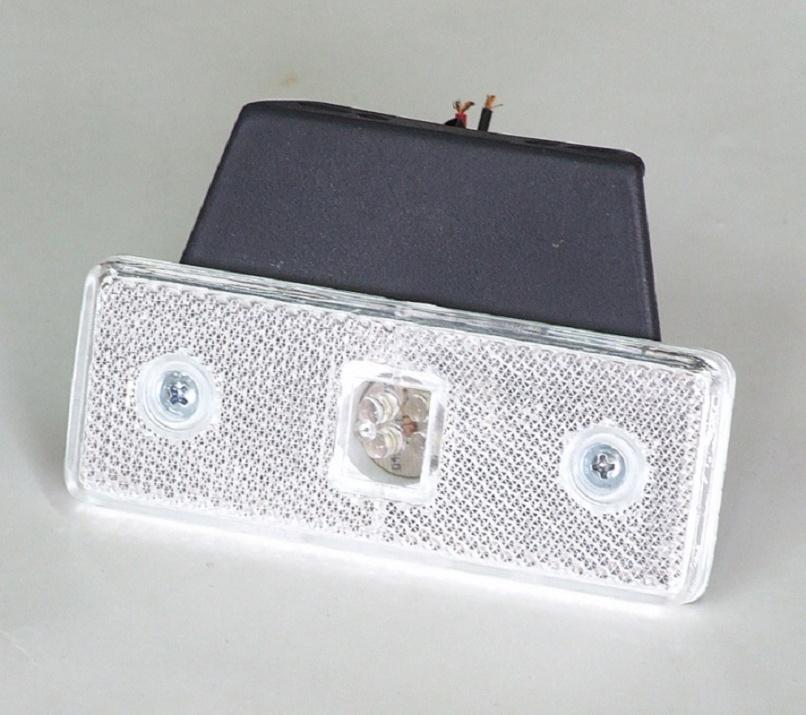 LED Φωτιστικό Πλευρικής Σήμανσης με Βάση 12V Λευκό