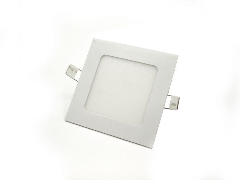Φωτιστικό Πάνελ Τετράγωνο Χωνευτό 6W Θερμό Λευκό