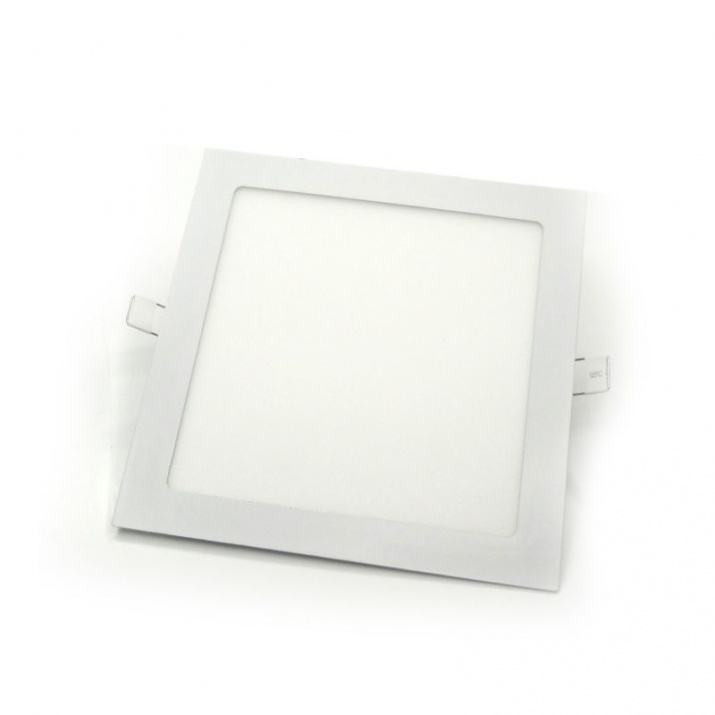 Φωτιστικό Πάνελ Τετράγωνο Χωνευτό 12W Θερμό Λευκό