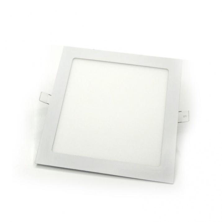 Φωτιστικό Πάνελ Τετράγωνο Χωνευτό 18W Θερμό Λευκό