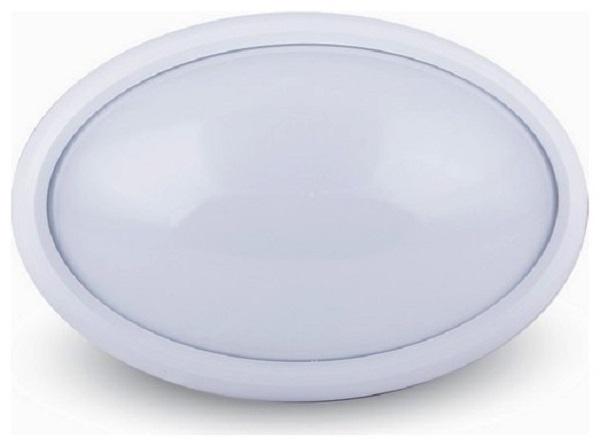 LED Φωτιστικό 12W 4000Κ IP54 Λευκό Οβάλ