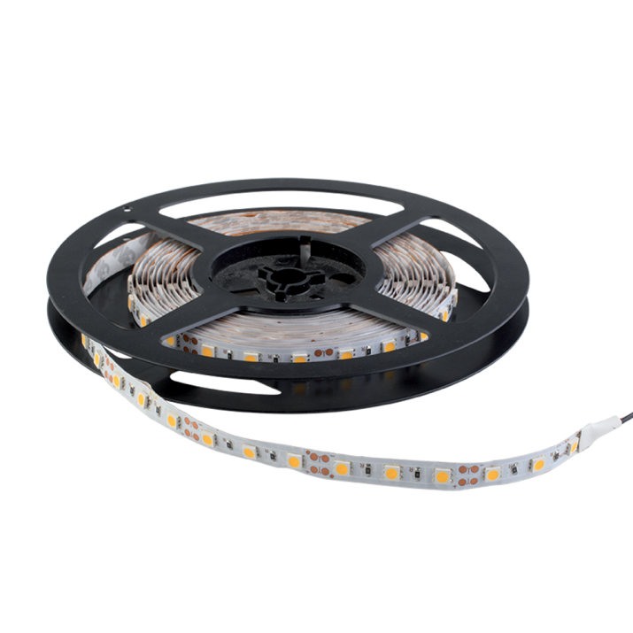 Ταινία LED 14.4 watt 60 smd 5050 Led Θερμό Λευκό 5 Μέτρα IP20