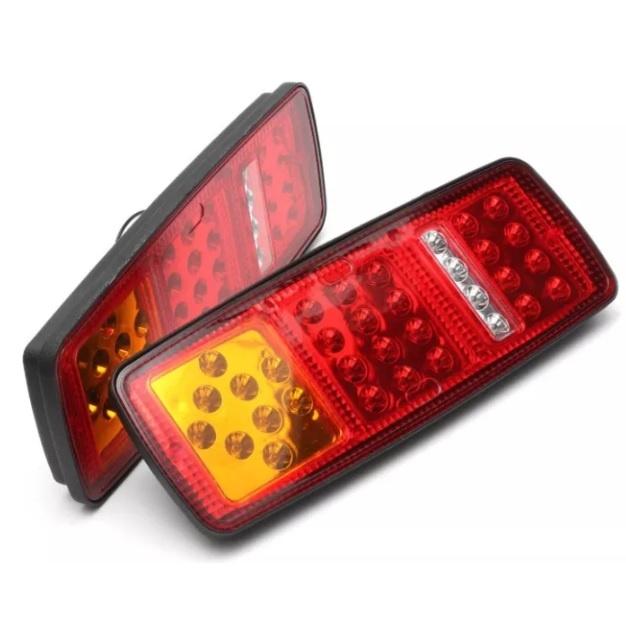 Σετ LED Φανάρι Φορτηγού Πίσω 24V Φρένων - Φλας - Όπισθεν - Πορείας
