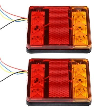 Σετ LED Φανάρι Φορτηγού Πίσω 12V / 24V Φρένων - Φλας - Πορείας ZMC