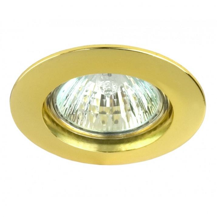 Βάση Σποτ Σταθερή Αλουμινίου Χρυσό MR16 / GU10 Φ65mm