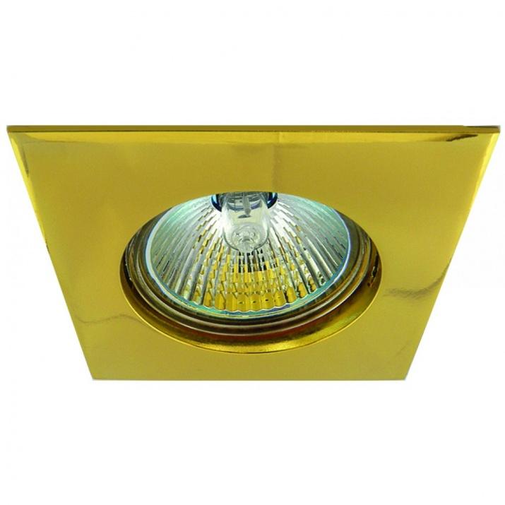 Βάση Σποτ Σταθερή Αλουμινίου Χρυσό MR16 / GU10 Φ75mm