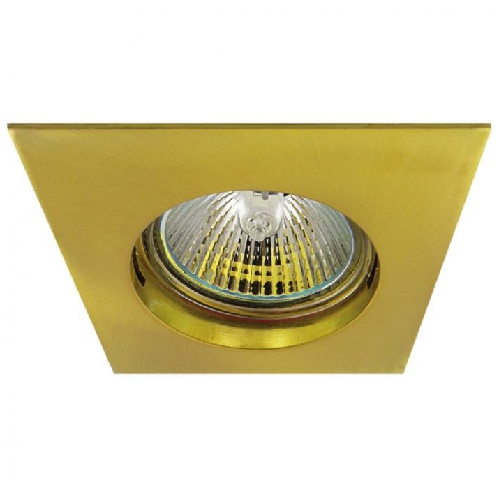 Βάση Σποτ Τετράγωνη Αλουμινίου Ματ Χρυσό MR16 / GU10 Φ62mm