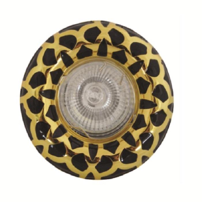 Βάση Σποτ MR16 / GU10 Αλουμινίου Σταθερή Φ60ΜΜ Χρυσό / Μαύρο