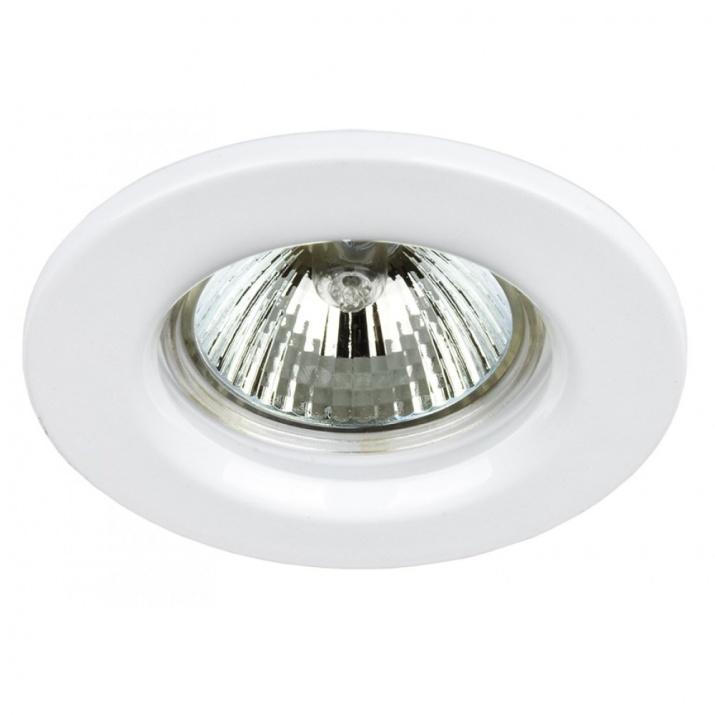 Βάση Σποτ Χάλυβα Σταθερή Λευκό MR16 / GU10 Φ60mm