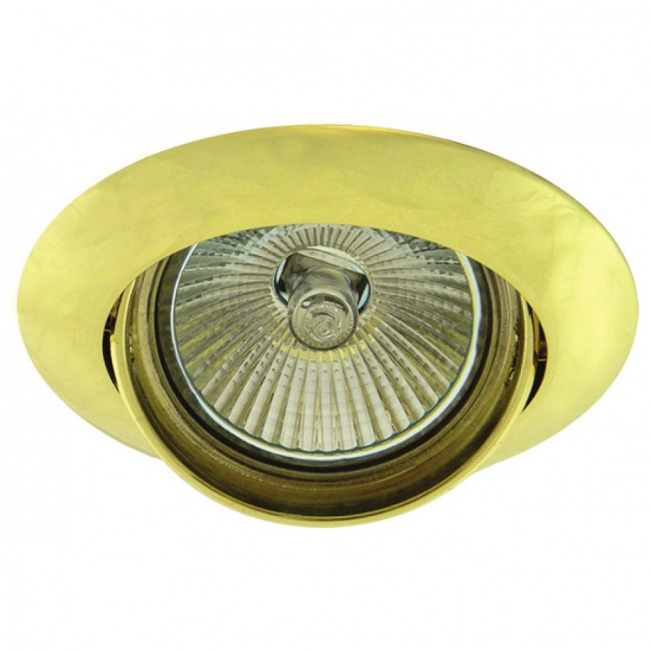 Βάση Σποτ Αλουμινίου Κινούμενη Χρυσό MR16 / GU10 Φ75mm